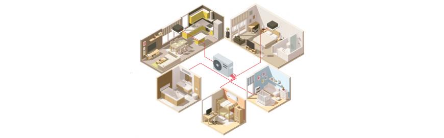 Climatizzatori e condizionatori multi split inverter in pompa di calore